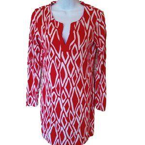 DIANE VON FURSTENBERG White Red Mini Dress Size 2